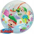 Durchsichtiger Folien-Ballon - Bubble - mit lustigen Elfen bedruckt