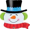 Folien-Ballon als Weihnachtsmann Kopf