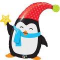 Pinguin Weihnachts-Folien-Ballon