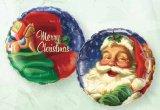 Weihnachtsmann-Kopf mit Merry Christmas Grüssen