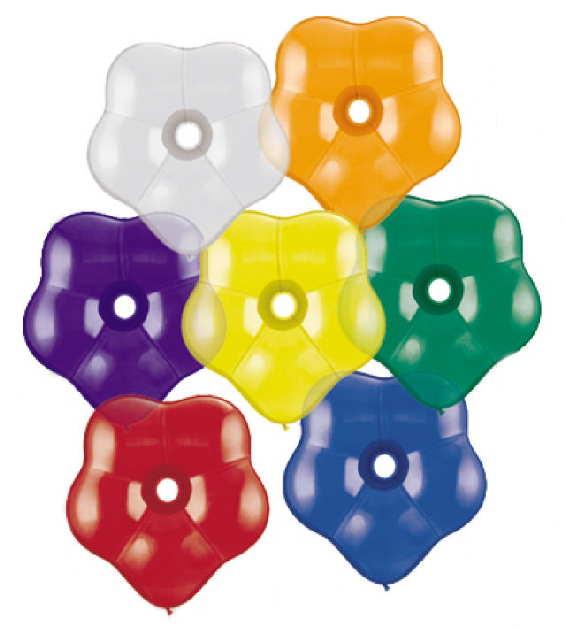 Farbige Blüten-Ballons